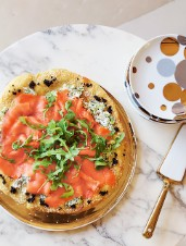 Pizza with Smoked Salmon & Canadian Caviar