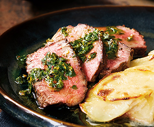 Argentinean Grass-Fed Rib Steak with Parsley Pesto