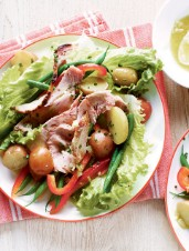 French Potato Salad with Roast Pork