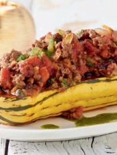 Delicata Squash Filled with Picadillo
