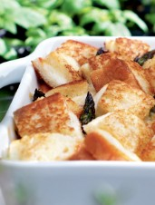 Chicken Crisp with Grilled Cheese Croutons