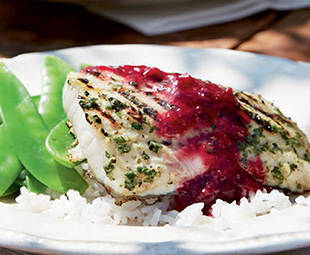 Grilled Fish with Plum Sauce