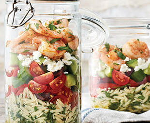 Greek Shrimp & Orzo Salad