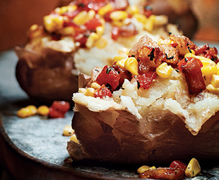 Red Potato with Corn, Pepper & Bacon