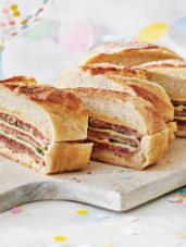 Triple Ham & Cheese Shooter's-Style Sandwich