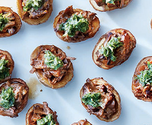 Red Wine-Braised Beef in Potato Skins
