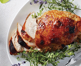 Apricot-Mustard Rosemary Turkey Breast