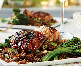 Asian-Spiced Chicken with Broccolini