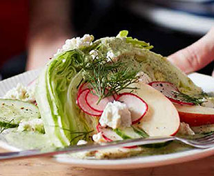 Cucumber & Apple Wedge Salad with Creamy Dill Dressing