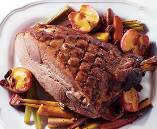 Easter Ham with Roasted Veggies