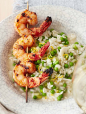 Spring Risotto with Smoky Shrimp