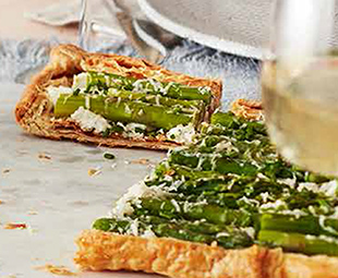 Asparagus and Tarragon-Goat Cheese Tart