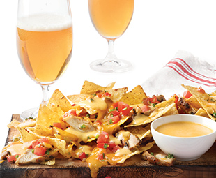 Barbecued Planked Chicken Nachos