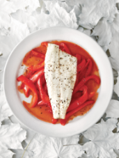 Sea Bass with Sweet & Sour Spanish Peppers