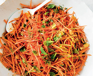 Moroccan Spiced Carrot Slaw