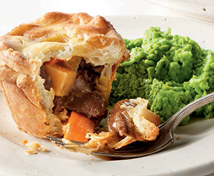 Australian Lamb Pie with Roots
