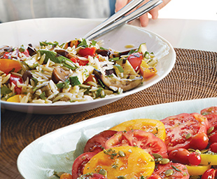Grilled Autumn Vegetable Orzo Salad