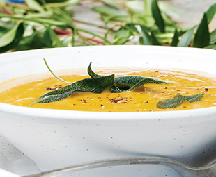 Roasted Garlic & Pumpkin Soup