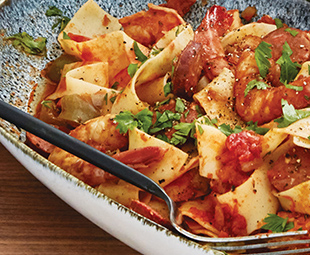 Jambalaya Pasta with Pappardelle