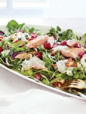 Smoked Trout Salad with Sour Cherries & Horseradish Crème Fraîche