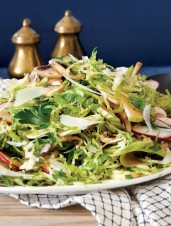 Shaved Brussels Sprouts, Apple & Radish Salad