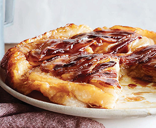 Maple Bacon Onion Tarte Tatin