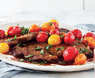 Sautéed Steak with Spanish Tomatoes