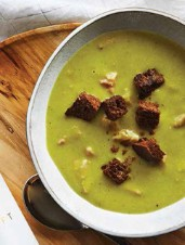 Curried Asparagus & Ham Soup