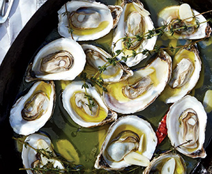 Pan-Grilled Oysters