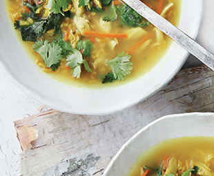 Turmeric, Chicken & Smoked Rice Soup