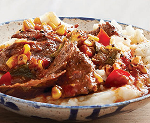 Chili Beef Pot Roast with Corn & Peppers