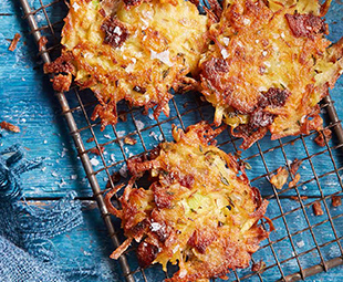 Mini Rösti with Cheddar & Bacon