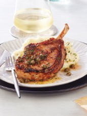 Brined Pork Chops with Fried Capers & Browned Butter