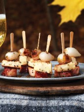 Bacon, Parsnip & Onion Pinchos