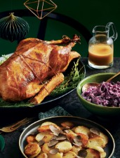 Roast Goose with Perry Sauce