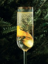 Balsam Fir Champagne Cocktail