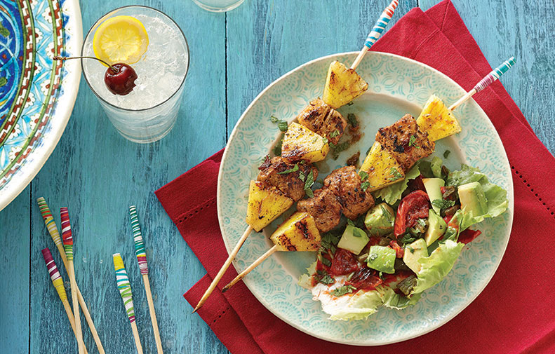 Chipotle Pork and Pineapple Skewers