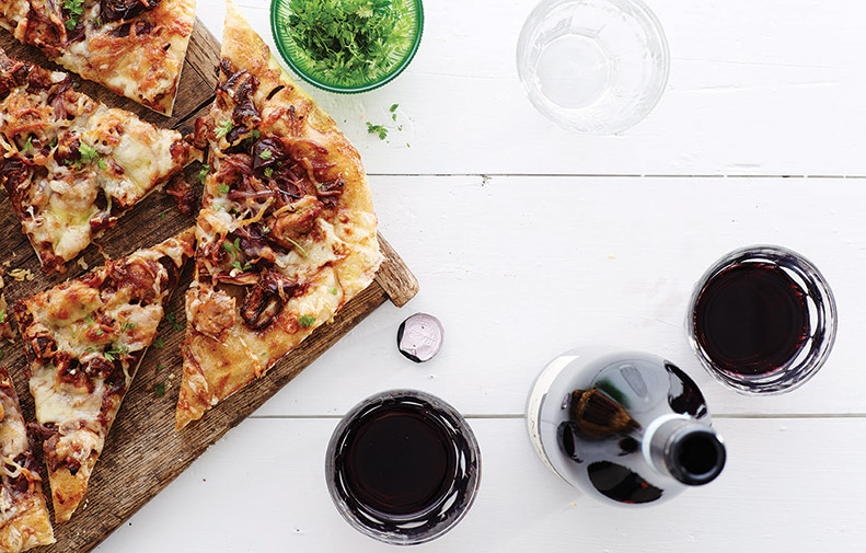 Sausage, Caramelized Onion and Date Pizza