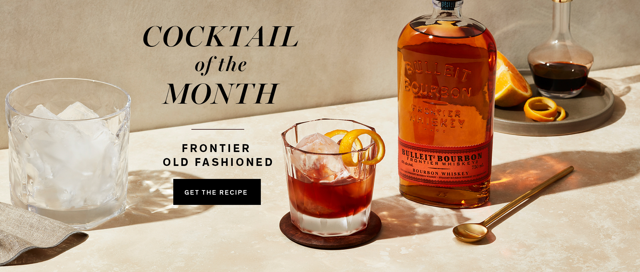 Cocktail of the Month  Frontier Old Fashioned. Get the Recipe