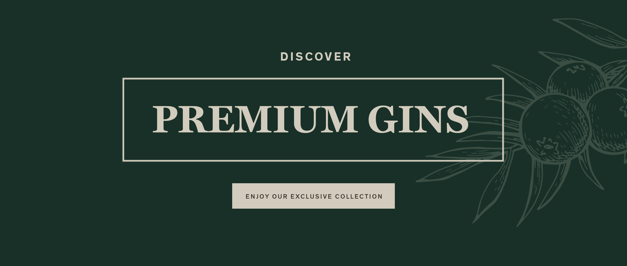 Discover Premium Gins.  ENJOY OUR EXCLUSIVE COLLECTION