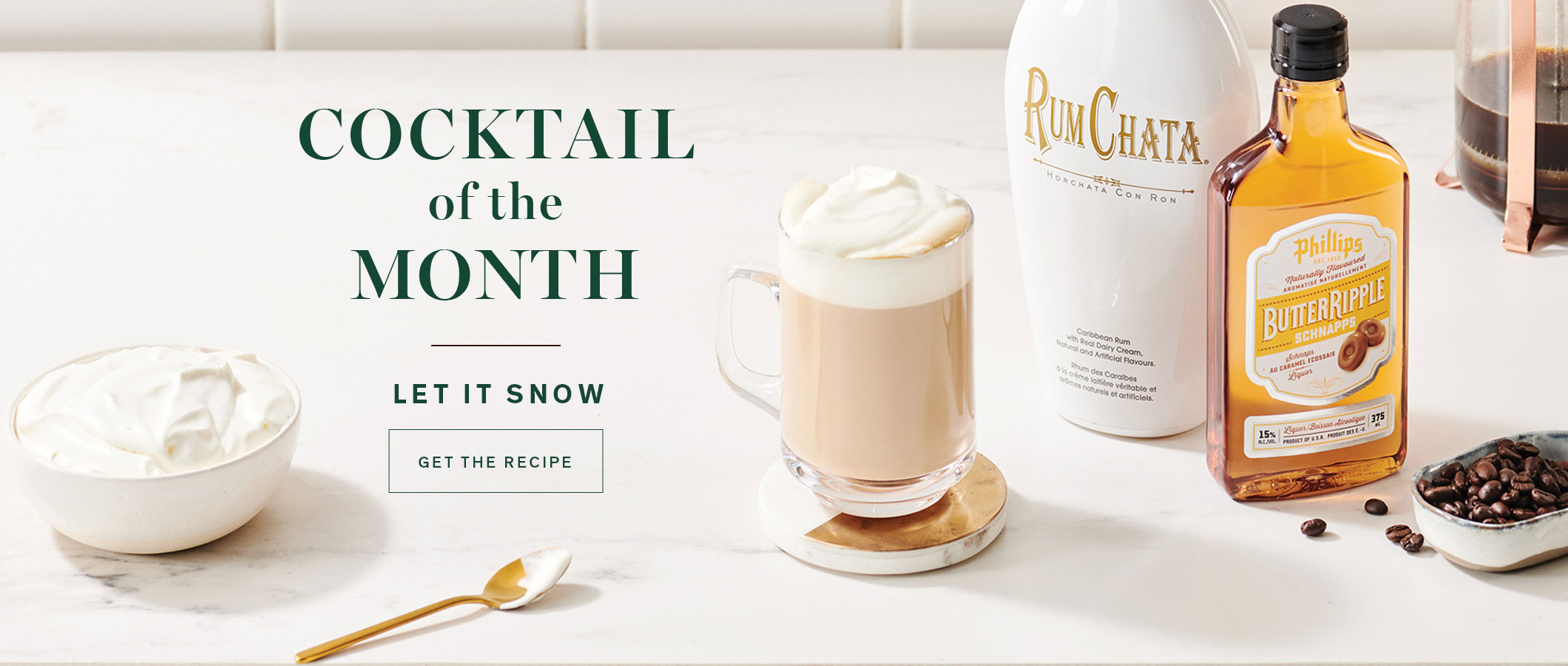 Cocktail of the Month  Let it Snow. GET THE RECIPE