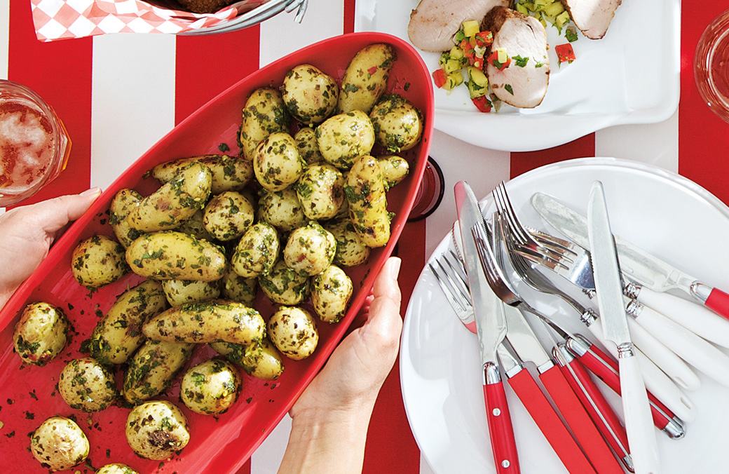 Roasted Baby Potatoes with Chimichurri Sauce