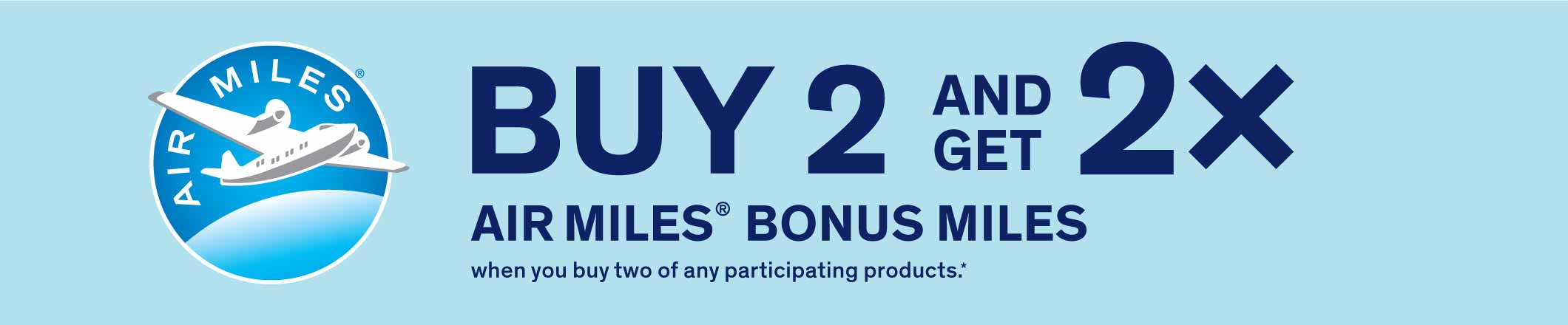 EPP Banner Buy 2 and Get 2x Air Miles