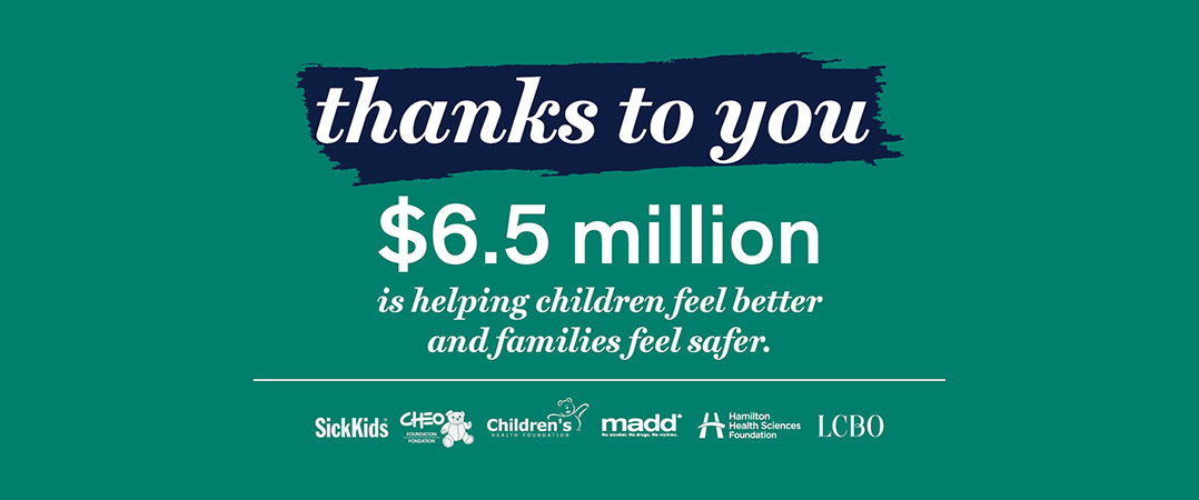 thanks to you $6.5 million is helping children feel better and families feel safer