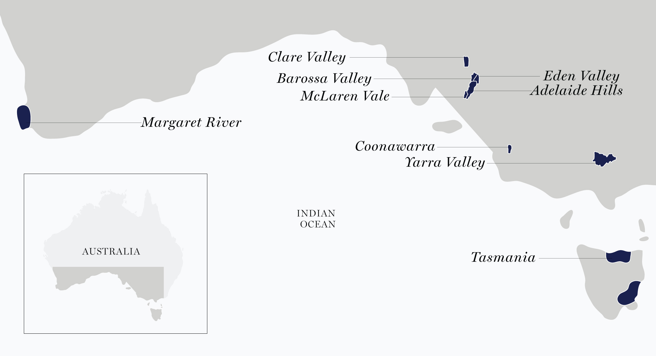 Chile wine region map