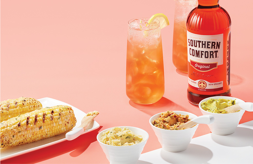 Grilled corn and sweet tea. Yes, please.