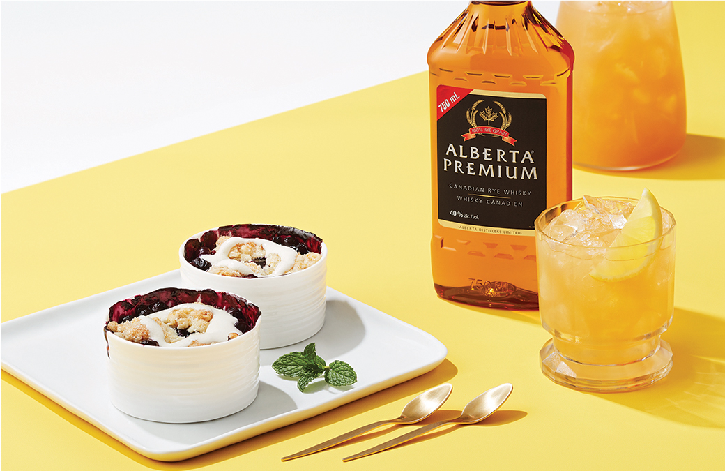 Canadian whisky, meet grilled dessert.