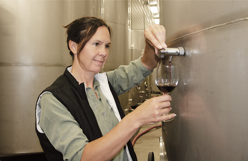 The Woman Behind the Wine