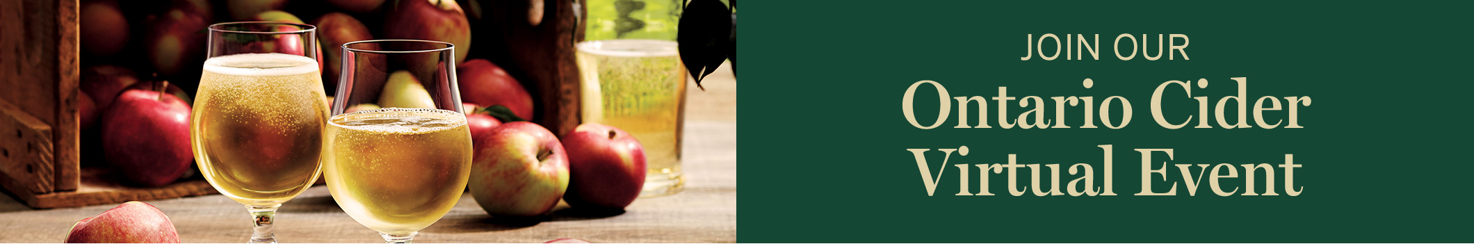 Join our Ontario Cider Virtual Event
