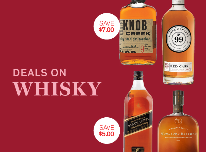 Deals on whisky